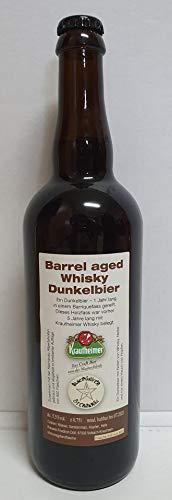 Whisky Bier I Krautheimer Barrel aged Whisky Dunkel Bier 0,75 l I Geschenk I Bierspezialität I Bier aus Franken I Limitiert