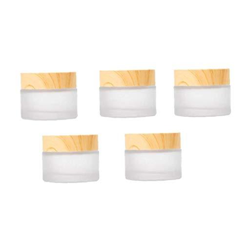 DierCosy Tools 5pcs envases cosméticos, Crema Tarro Muestra Ollas cosmético compone de...