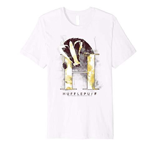 Harry Potter Hufflepuff House Watercolor Premium T-Shirt