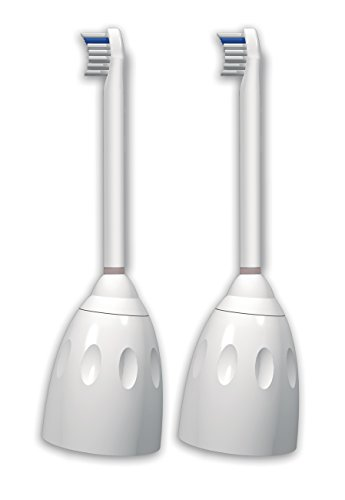 Genuine Philips Sonicare E-Series replacement toothbrush heads, HX7012/64, 2 Count Compact