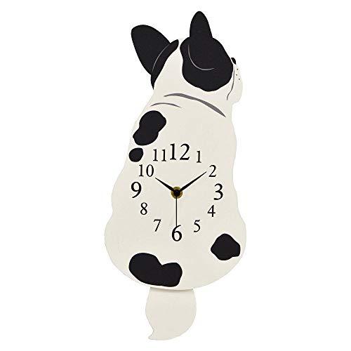 GENTIE wandklok mechanisch pendulum dog klok tail is een pendulum Franse Bulldog G-1190N Japan import