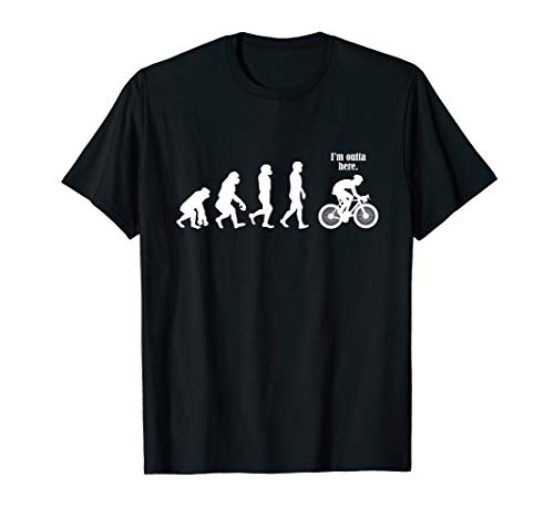 Evolution Radfahrer Fahrrad Fahrradfahren Rad Bike Geschenk T-Shirt