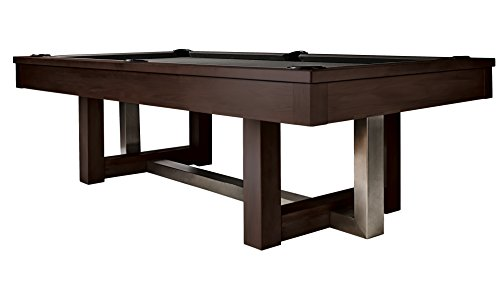 Amazing Deal Hj Scott 8 Abbey Billiards Pool Table - Espresso Stained Maple & Brushed Metal