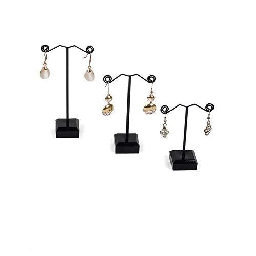 VIVICF 3pcs Mini Soporte de Exhibición de Joyería Estante de Joyería Soporte Joyas Estante de Pendiente Pulsera Collar Organizador de Pendientes Acrílico Tres Tamaños