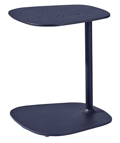 Tomile Mesa auxiliar de sofá y tumbona, mesa de centro multifuncional en forma de C, puede utilizarse como mesa de aperitivos para espacios pequeños