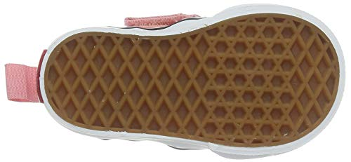 Vans Asher V-Velcro, Sneaker Bambina, Rosa Checkerboard (Pink Icing/White WF9), 18 EU