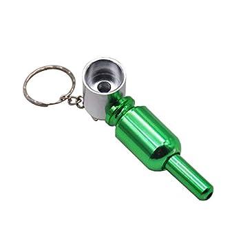 Qiang Removable Metal Keychain Hidden Cute Accessories -YAN0710,Green