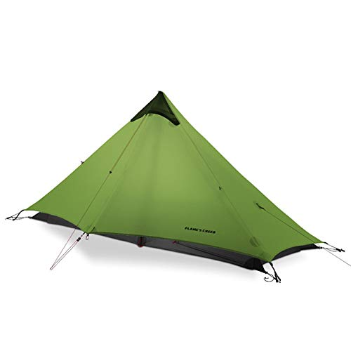 BAJIE tent Flame'S Creed 805G Oudoor Ultralight Camping Rodless Lanshan 1 Tent 3 Season 1 Single Person Professional 15D Nylon Silicon Tent