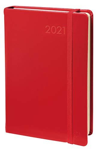 Quo Vadis 37700519MQ Daily 24 Kalender 2019 (16x24cm, 1 Tag pro Seite, Fadenbindung, Adressverzeichnis, Gummizug, Lesezeichen) 1 Stück rot