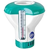 Gre DCT20 - Dosificador Flotante con Termómetro para Piscinas, para Pastillas de 20 g