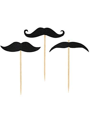 amscan - 998552 - 20 Piques Moustache
