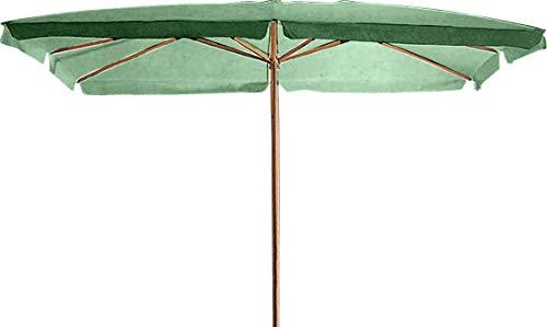 Bauer Ombrellone da Giardino in Legno 2x3m Verde