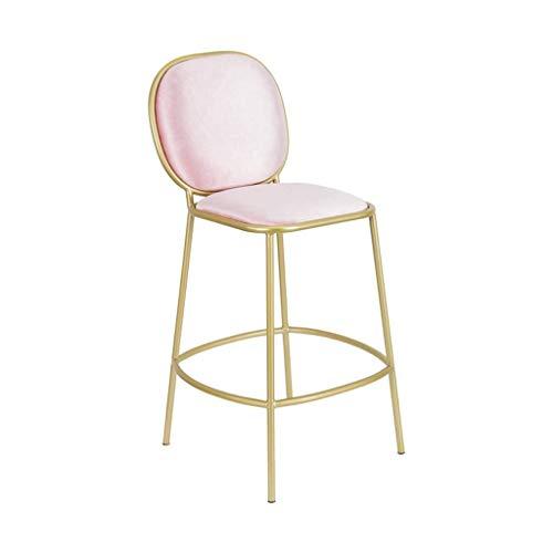 Fashion Creative Bar Sedia Home Schienale Seggiolone Ascensore Rotante Sgabello ad Alto Sgabello da Colazione Ristorante Ascensore Sgabello Sgabello semplicità (Colore: Grigio) (Color : Pink)