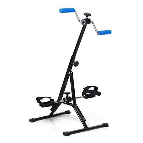 WGFGXQ Bicicleta ejercitadora con Pedal portátil, Bicicleta estática con Pedal, máquina de Ejercicios para Brazos y piernas, ejercitador Sentado Adecuado para Ejercicios en casa