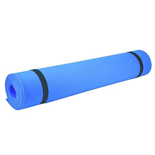 Esterilla de yoga antideslizante Manta ecológica para ejercicios de fitness y gimnasio espesada alfombra de ejercicio 173 x 60 x 0.4 cm (azul)