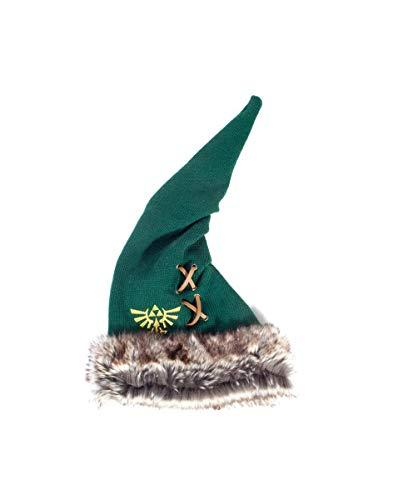 The Legend of Zelda Unisex Furry Pointy Beanie Strickmütze, Grün (Green Green), One Size