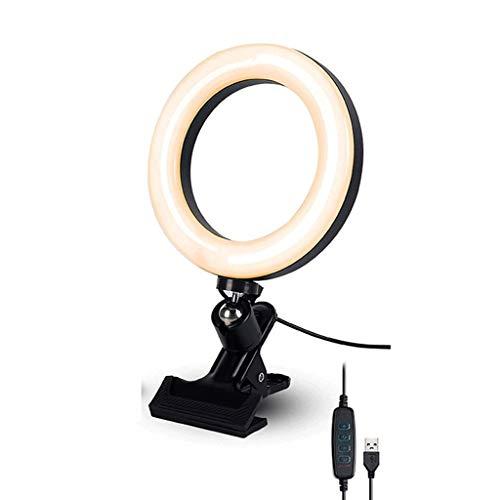 Luce ad anello per selfie Selfie Ring Light with Phone Clip Laptop Camera Riponore Desktop Camera Rifono per Il Trucco,Clip...