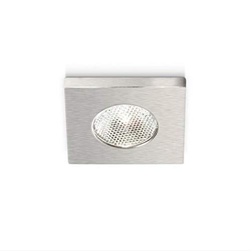 Faretto Incasso Alluminio Gea Led Gfa902C Led Spot Tondo Bianco Nichel Moderno Interno 3w 170lm 180lm 3000°k 4000°k Ip20, Nichel satinato, 3000°K (luce calda)