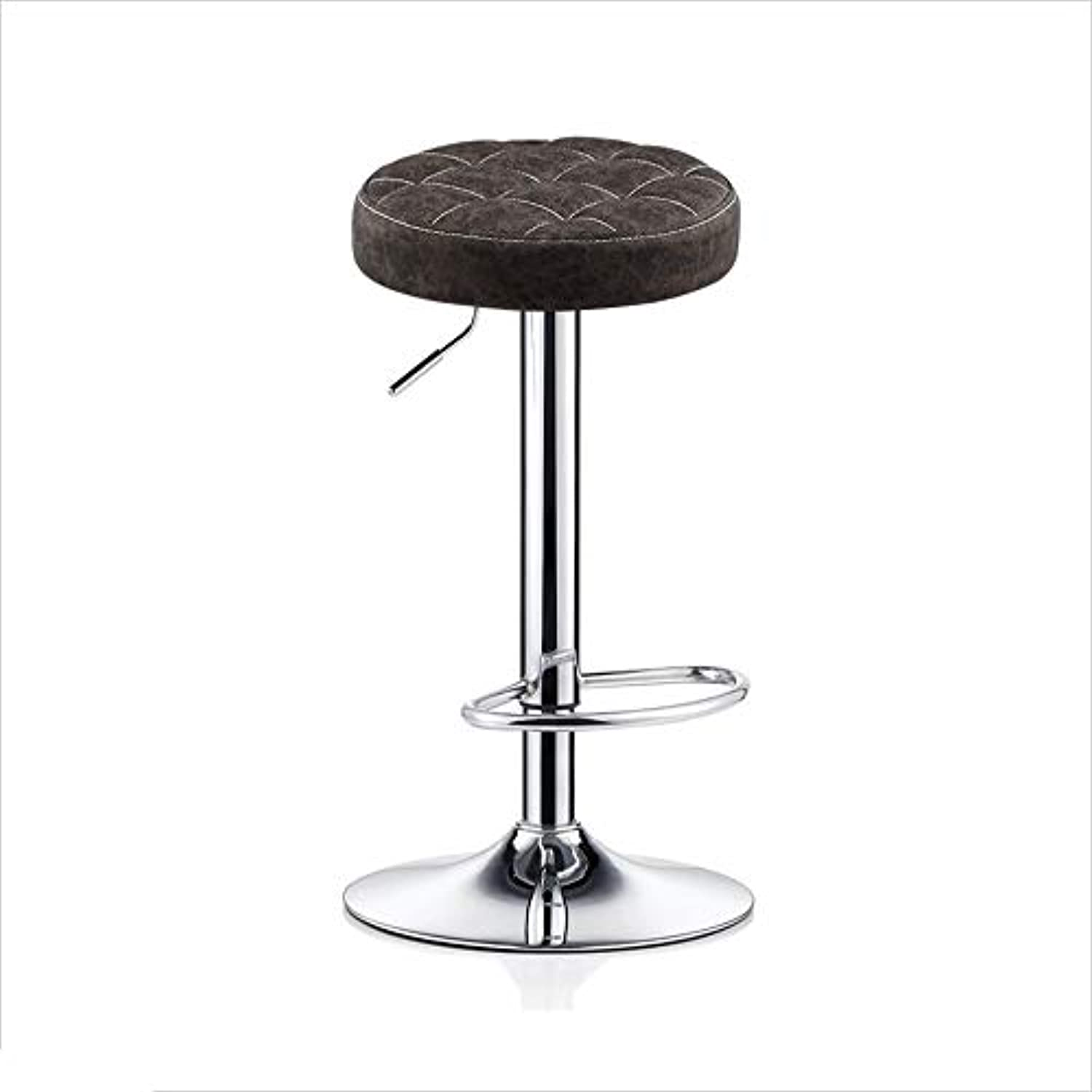 QZ HOME Bar Chair High Foot Stools redating Round Stools Bar Chair Soft and Comfortable Strong Load Bearing (color   Brown)
