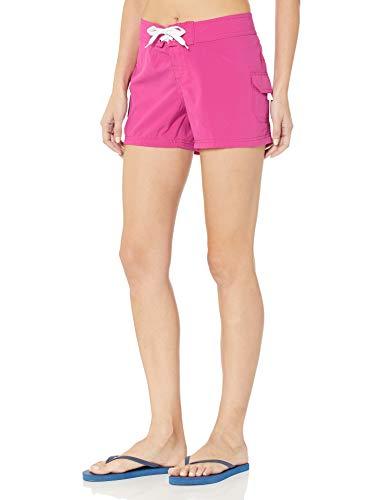 Kanu Surf Women's Breeze Solid Stretch Boardshort, Pink, 12