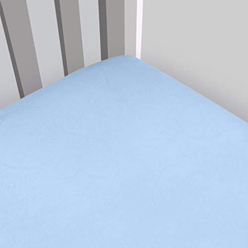 Magnolia Organics Fitted Interlock Crib Sheet - Bassinet, Baby Blue