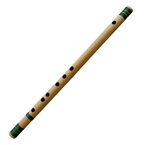 Flauta transversal de bambú indio de Basuri para principiantes y profesionales (tono C#) Musical de Woodwind instrumento 46 CM