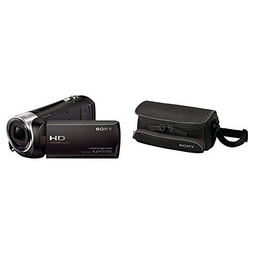 Sony HDR-CX240E HD Flash Camcorder (Full HD, EXMOR R CMOS Sensor, 9,2 Megapixel, BIONZ X Bildprozessor) schwarz & LCSU5 Tasche für Handycam schwarz