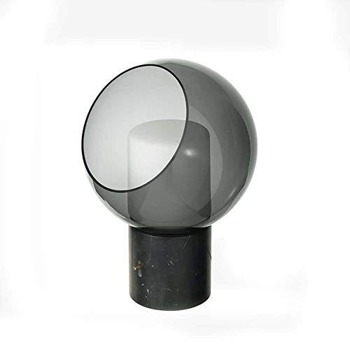 NoNo Glaskuppel Tischlampe, Glas Lampenschirm + Marmor Lampenkörper, LED-Tischlampe, Geeignet Für Schlafzimmer/Esszimmer/Hotel, 40X28cm (15.7X11in)