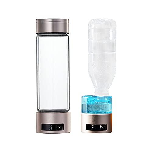 MSHENUED Generador de Botellas de Agua de hidrógeno, máquina para fabricar Botellas de Agua alcalinas de hidrógeno, tecnología SPE PEM de hidrógeno, con Tubo de oxígeno y Adaptador de Agua Mineral
