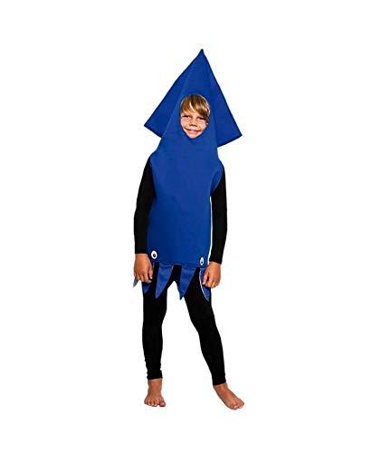 Disfraz Calamar Nio (Tallas Infantiles Unisex de 3 a 12 aos) Talla 4-6 aos| Disfraz de Carnaval Original Nios Animales Marinos Fiesta