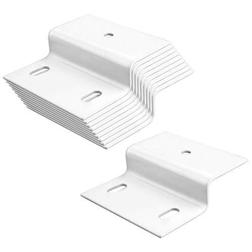 MOUNTAIN_ARK Soporte de fijación en forma de Z para muebles, 10 unidades, doble ángulo, perfil de canal, ángulo de fijación, soporte de hierro, pieza de fijación para muebles