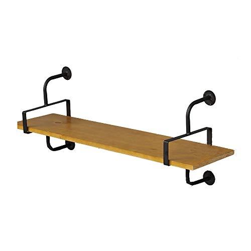 YLCJ Amerikaanse massief ijzeren achterplank in massief hout op de wandplanken Enkelwandige wandplank Een verscheidenheid aan maten om uit te kiezen (Maat: 60 * 25 * 43 cm)