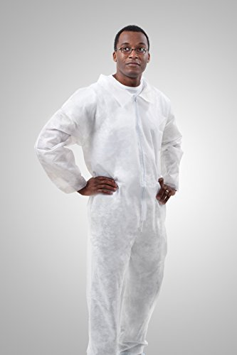 TRONEX 644040w Spunbond Coverall Jumpsuit (Bag of 5) (2X-Large), XX, White