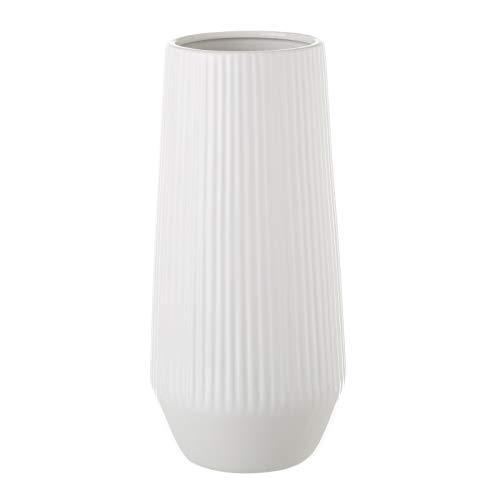 Jarrón de cerámica Blanco de diseño nórdico para salón Vitta - LOLAhome