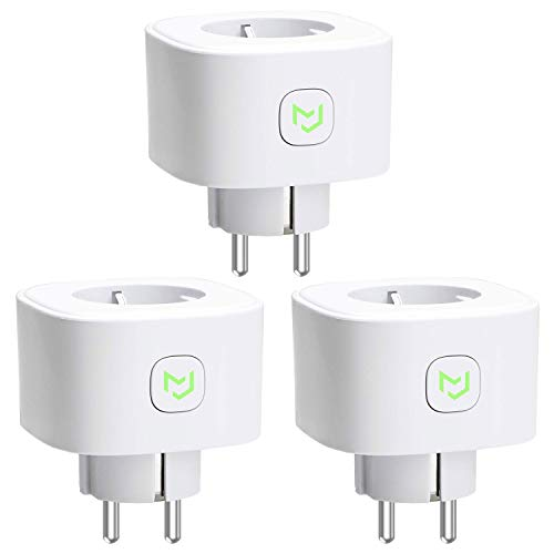Presa WiFi Smart Plug Intelligente Spina 16A 3680W, Funzione Timer, Compatible con SmartThings, Amazon Alexa, Google Assistant e IFTTT, APP Controllo Remoto, 3 Pezzi MSS210 meross