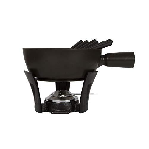 BOSKA 853541 Set à Fondue Nero Taille XL, 2.2 liters, Brun/Argent/Noir