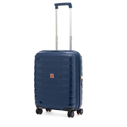Roncato Spirit Trolley cabina rígida 4 ruedas azul noche ampliable con cierre TSA 55 x 40 x 20-25 cm