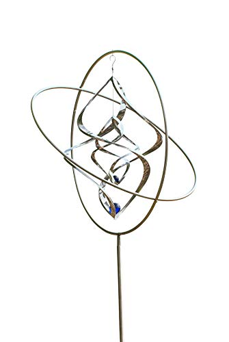 Windspiel Winddancer, Windskulptur Gyroskop 2638 - Gartendekoration, Außendeko, Windchime als tolle Geschenkidee, Windrad, Windläufer, Edelstahl Deko