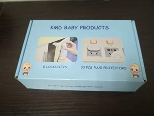 40 Pcs Baby Safety Cabinet Magnetic Locks for Cabinets and Draws | Set Includes 8 Locks 2 Keys and 30 Electrical Safety Covers All in One Set ! Very Easy to Install No Screws are Drilling Required