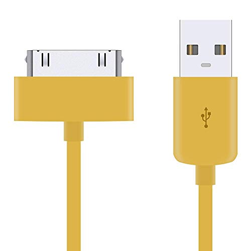 5 Pack of 1 Metre Extra Long Yellow 30-Pin USB Data Sync Charging Cable Charger Lead For Apple iPhone 4 4S 3G 3GS Apple iPad 1st 2nd 3rd Gen iPod 5th Gen classic nano 1st 2nd 3rd 4th 5th 6th Gen Touch