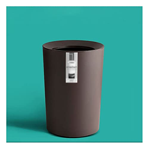 Garbage Bin for Kitchen, Office, Home Lidless Round Trash Can Light Luxury Office Household Storage Bin Living Room Bedroom Toilet Toilet Paper Basket Silent and Gentle Open and Close ( Color : C )