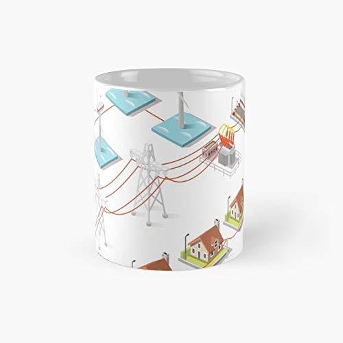 Energy Offshore Wind Farms Taza clásica de regalo divertido tazas de café 11 oz