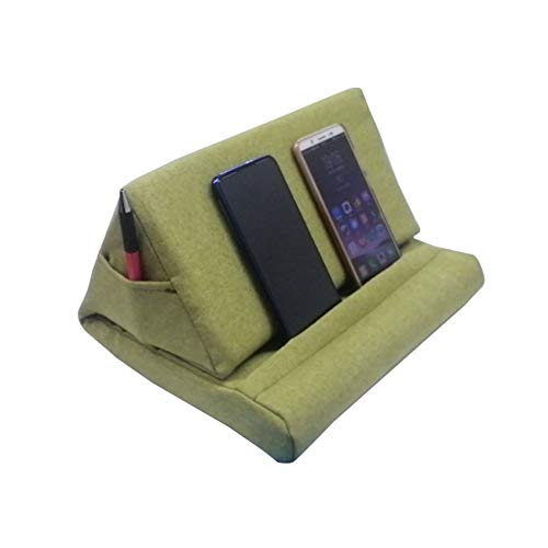 SYSI Multi-Angle Tablet Soft Pillow, Phone Pillow Lap Stand for iPads, Tablets, eReaders, Smartphones, Books, Magazines (Green)