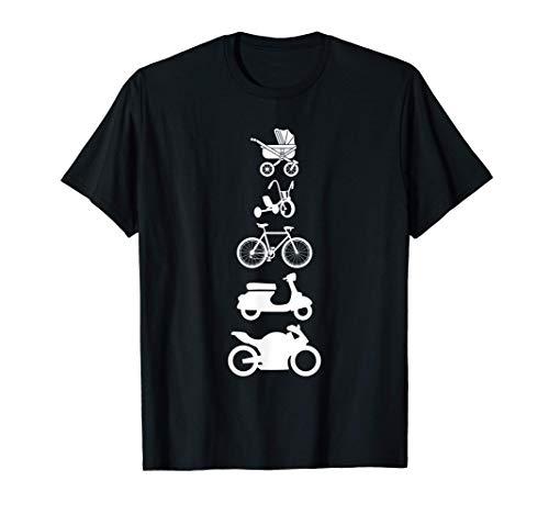 Evolution Bike Motorrad Kinderwagen Fahrrad Biker Geschenk T-Shirt