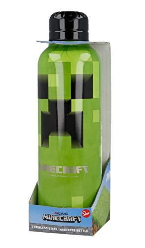 BOTELLA TERMO ACERO INOXIDABLE 515 ML   MINECRAFT