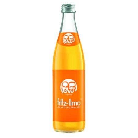 10 Flaschen Fritz Fritz-limo Orange a 500ml Schraubverschluss inc. MEHRWEG Pfand in Glas