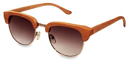 retrostiel Holz Sonnenbrille Highroller Beech