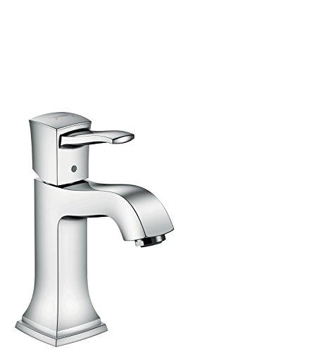hansgrohe Wasserhahn Metropol Classic (Armatur mit Auslauf Höhe 110 mm und Zugstangen-Ablaufgarnitur) Chrom