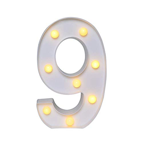 AmmToo LED Letter Lights, Marquee Lights Sign 26 Alphabet Lights Indoor Decoration for Thanksgiving Night Light, Wedding, Birthday Party, Christmas, Home Bar Wall Decor (9)