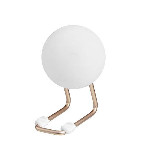Luz nocturna LED de luna, nueva lámpara de mesa pequeña para camping, luz de emergencia, luz USB, luz exterior para dormitorio, 2 W, oro rosa